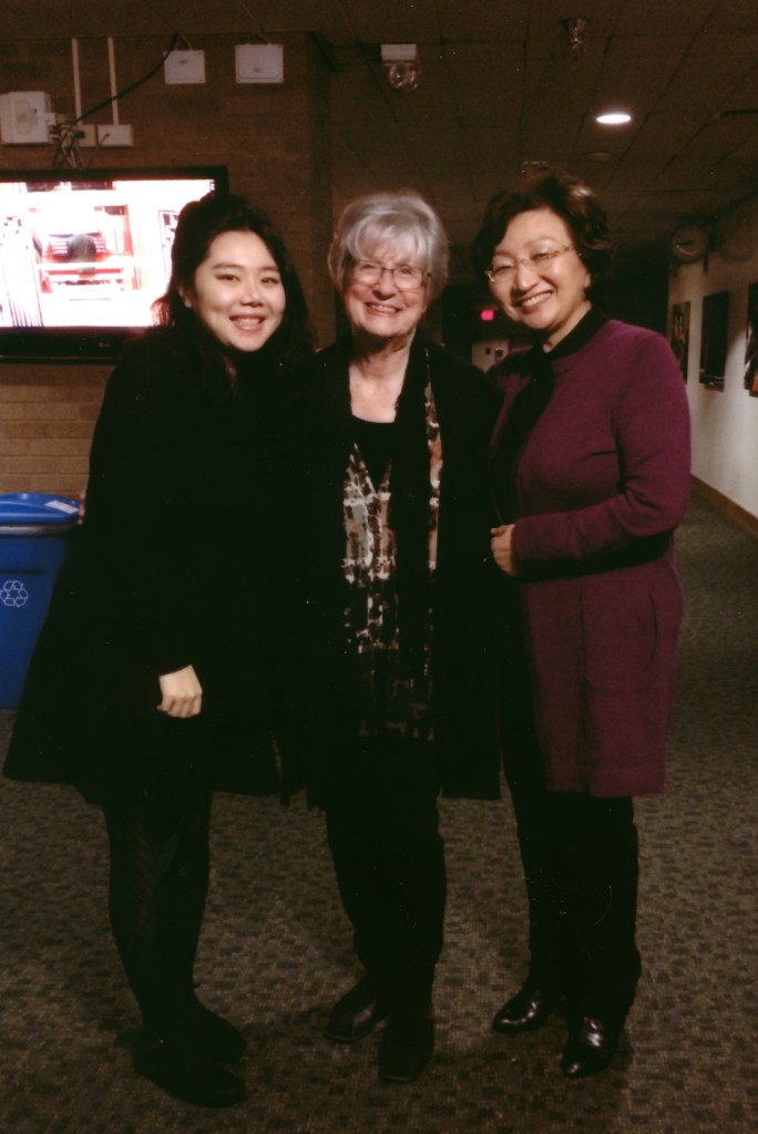 Three generations of collaboration! Left to Right: Dr. Victoria Junglee Choi (DMA, 2014), Professor Anne Epperson and Professor Bang-Won Han